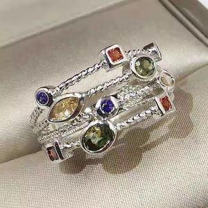 Gemstone Cable Ring